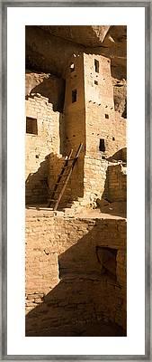 Ladder At House, Cliff Palace, Mesa Framed Print