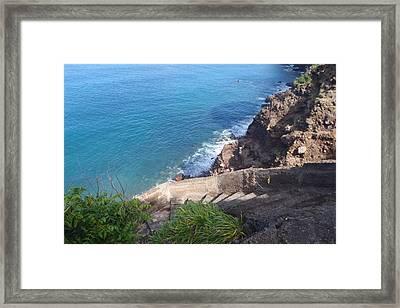Ladder Bay Framed Print by Senske Art
