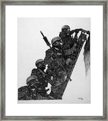 Ladder Entry Framed Print