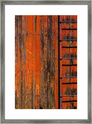 Ladder On Boxcar Framed Print