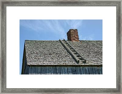 Ladder - Shingled Roof - Maison Doucet Framed Print by Nikolyn McDonald
