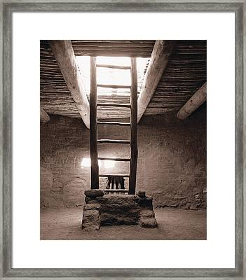 Framed Print featuring the photograph Ladder To The Sky 2 by Gary Cloud