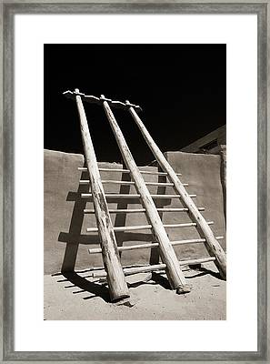 Framed Print featuring the photograph Ladder To The Sky by Gary Cloud