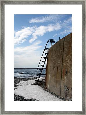 Ladder To The Snow Framed Print by Jeff Porter