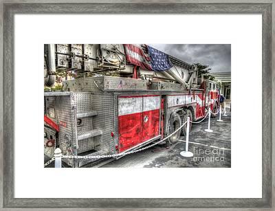 Ladder Truck 152 - 9-11 Memorial Framed Print by Eddie Yerkish