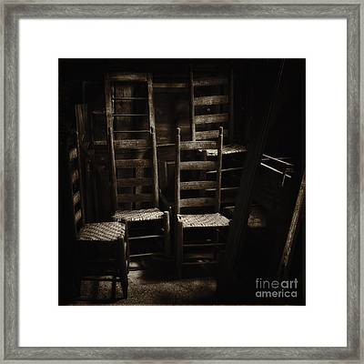 Ladderback Chairs Framed Print by Stanton Tubb