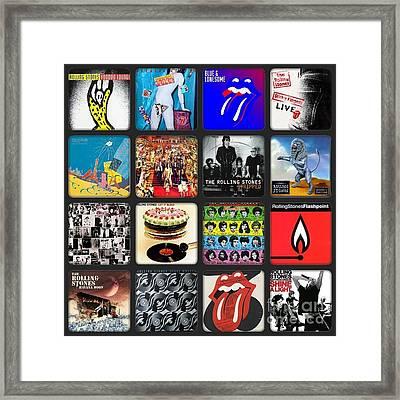 Ladies And Gentlmen The Rolling Stones Framed Print