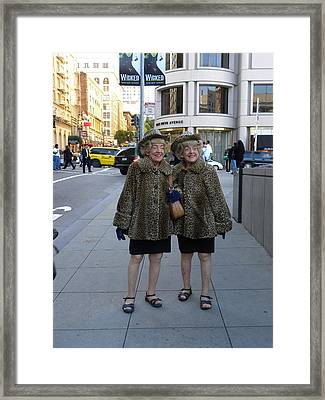 Framed Print featuring the photograph Ladies From San Francisco by Fanny Diaz