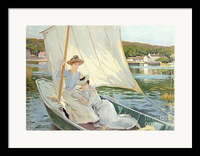 Lady In Water Paintings Framed Prints