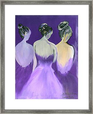 Ladies In Purple Framed Print by Robert Lee Hicks