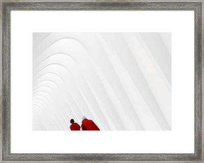 Ladies In Red Framed Print