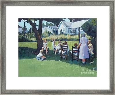Ladies In Waiting II Framed Print by Deb Putnam