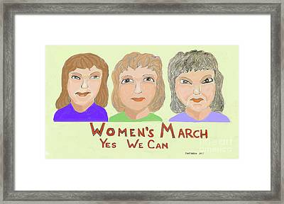 Ladies Marching Framed Print by Fred Jinkins