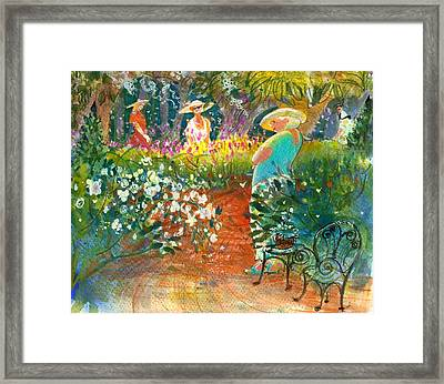 Framed Print featuring the painting Ladies Of The Garden by Gertrude Palmer