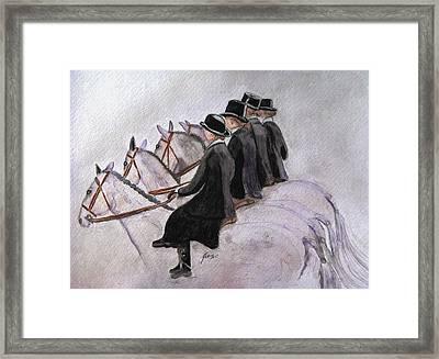 Ladies Of The Hunt Framed Print by Angela Davies