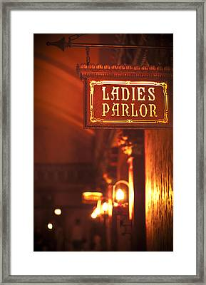 Ladies Parlor Framed Print by Carolyn Marshall