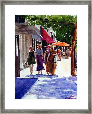 Ladies That Shop Framed Print by Ron Stephens