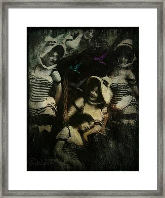 Framed Print featuring the digital art Ladies Who Lunch by Delight Worthyn