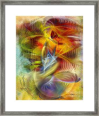 Lady And Her Shells Framed Print