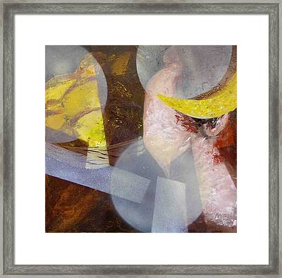 Lady And Lemons Framed Print by Evguenia Men