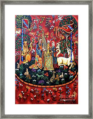 Lady And The Unicorn Sound Framed Print by Genevieve Esson