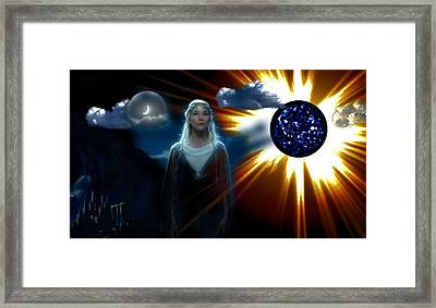 Lady Arwen Between Night And Day Framed Print by Mario Carini