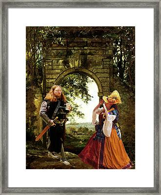 Lady At The Gate Framed Print by Susan Vineyard