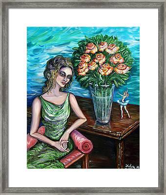 Lady Ballerina Framed Print