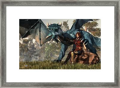 Lady Blue Dragon Framed Print