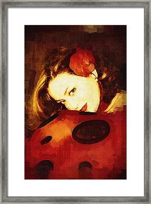 Lady Bug Framed Print by Holly Ethan