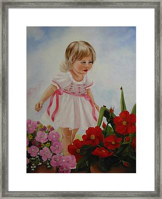 Lady Bug Lady Bug Framed Print by Joni McPherson