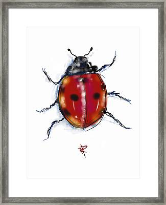 Lady Bug Framed Print by Russell Pierce