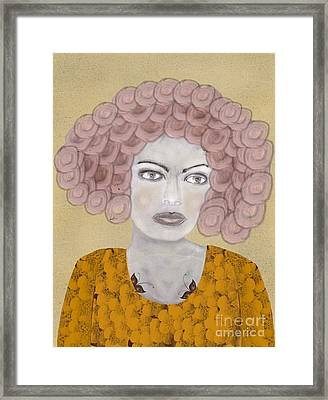 Framed Print featuring the painting Lady Butterfly by Bri B