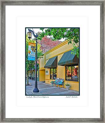Lady C Storefront-sylvania Framed Print