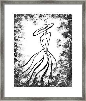Lady Charm Framed Print by Irina Sztukowski