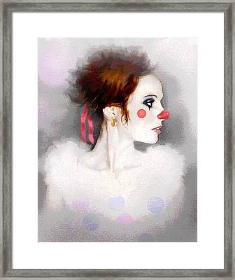 Lady Clown Framed Print by Robert Foster