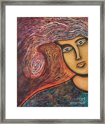 Lady Compassion Framed Print by Kathy Stanley