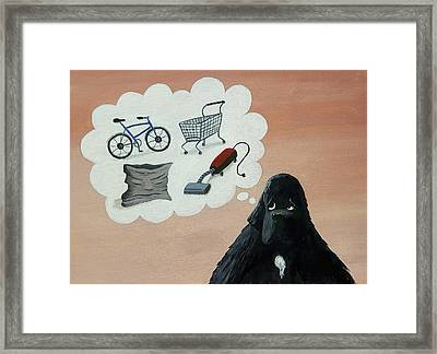 Lady Considers Her Phobias Framed Print
