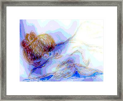 Lady Crying Framed Print
