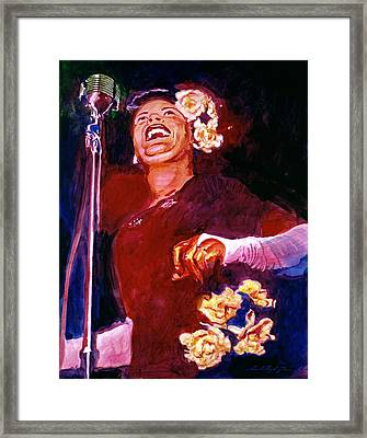 Lady Day - Billie Holliday Framed Print by David Lloyd Glover