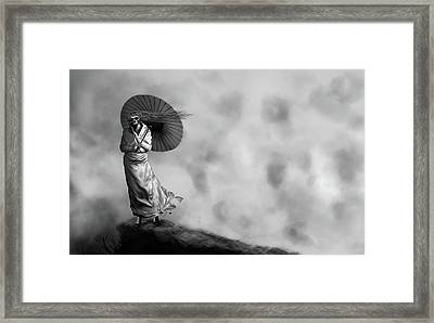Lady Death Framed Print by Andreas  Leonidou