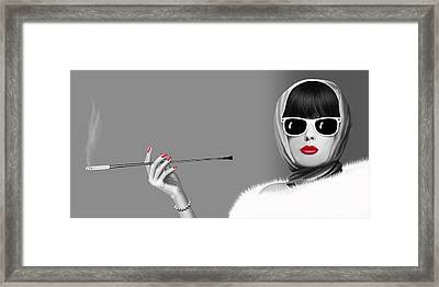 Lady Elegance Framed Print by Monika Juengling