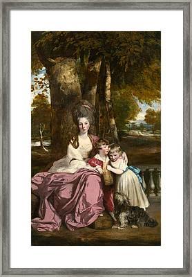 Lady Elizabeth Delme And Her Children Framed Print by Sir Joshua Reynolds