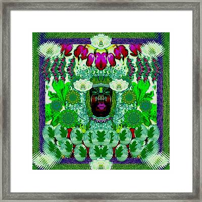 Lady Fae Deep In The Forest Framed Print by Pepita Selles