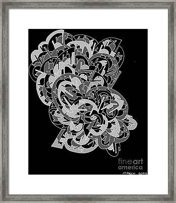 Lady Fan Framed Print by Nancy Kane Chapman