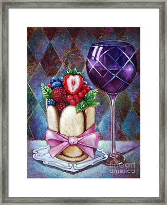 Lady Finger Tower Dessert Framed Print by Geraldine Arata