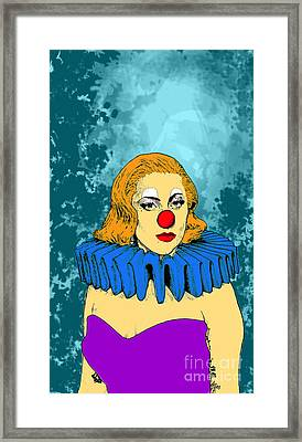 Framed Print featuring the drawing Lady Gaga 1 by Jason Tricktop Matthews