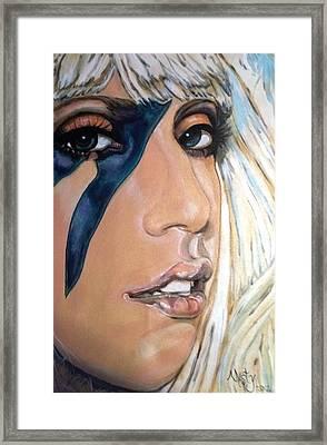 Lady Gaga 1 Framed Print by Misty Smith
