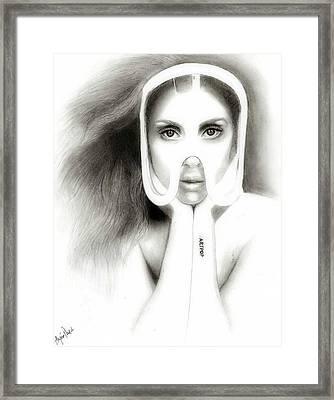 lady Gaga Framed Print by Alycia Plank