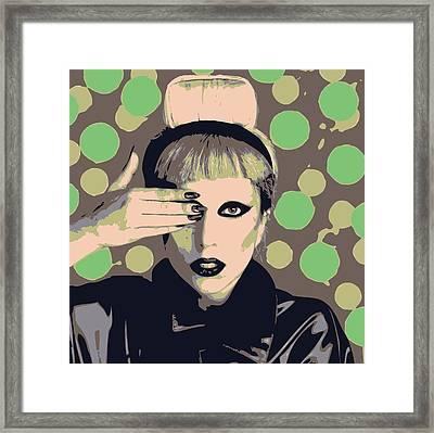 Lady Gaga Framed Print by Lisa Noneman